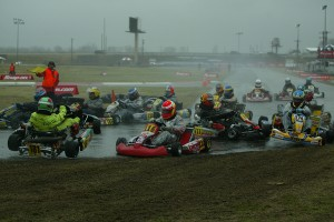 Wet conditions met the racers at the Stars of Karting Race of the Americas in 2006 (Photo: EKN)