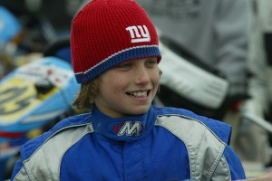 A young Sage Karam looking to defend his 2005 Stars of Karting Cadet championship (Photo: EKN)
