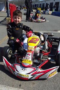 Russell Karting Specialties / Parolin / Woltjer Racing Engines driver Caleb Gafrarar