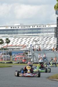 Caleb G made his Cadet debut at WKA Daytona KartWeek in December, placing top-five in Mini Swift