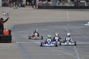 Carson Morgan doubled up in the win column at Round Two, including a victory in Junior 1 Comer (Photo: Kart Racer Media)