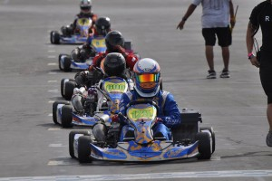 Garrett McKelvie swept the growing S3 Novice Stock Moto field in Round Two (Photo: Kart Racer Media)