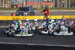 A solid field of X30 Junior drivers contested Round Two, with Ryan Schartau (17c) scoring the victory (Photo: Kart Racer Media)