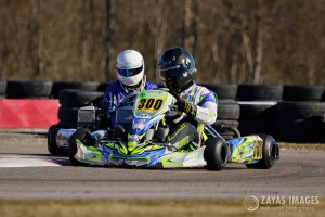 Everett Thomas (#300) picked up where he left off last year in Rotax Senior Max sweeping the weekend (Photo: Zayas Images)