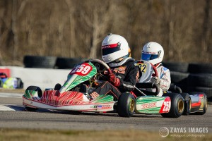 Tyler Bruno (#259) starts off the 2016 season by claiming both days in Rotax Junior Max aboard his new Tony Kart (Photo: Zayas Images)