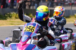 Carter Herrera landed his first Junior Max victory with a third to first move on the final lap (Photo: SeanBuur.com)