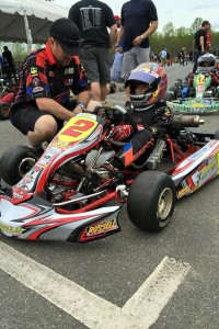 Russell Karting Specialties / Parolin / Woltjer Racing Engines driver Caleb Gafrarar on grid during the second event of the WKA Manufacturers Cup Series at GoPro Motorplex