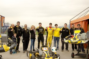Drivers, Mechanics and Friends of PCR all joined together for a picture at the end of the test (Photo: Treno Solimeo)