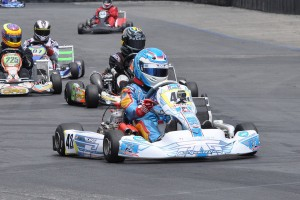 Kristian Valdez won the Open Shifter category at Round Three (Photo: Kart Racer Media)
