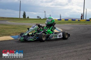Ashton Torgerson won three of his four races, including two in Micro Max (Photo: Dalton Egger - CanAmKartingChallenge.com)