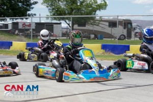 Kyle Wick completed the weekend as the big winner, picking up four victories, two in S2 and two in Briggs 206 Senior (Photo: Dalton Egger - CanAmKartingChallenge.com)
