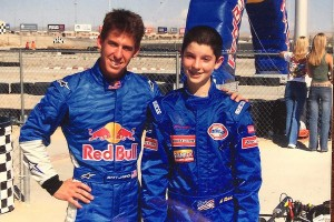 Jaskol and Rossi at Red Bull event in 2005, the same year Alex won an IKF Duffy (Photo: Matt Jaskol)