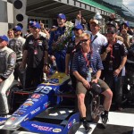 The paths of Bryan Herta, Alexander Rossi and Matt Jaskol spans 16 years to the Victory Circle at the Indianapolis Motor Speedway (Photo: Matt Jaskol)