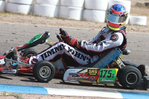 Former SuperNationals winner Chris Jennings sporting the Mezzo Kart Radiator at the SKUSA Pro Tour SpringNationals (Photo: EKN)