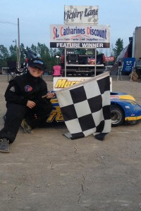 Rookie Nigel Pendykoski in Victory Lane for the second time
