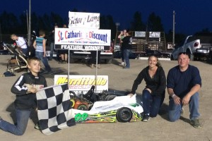 Trevor Wright in Victory Lane for the first time in 2016