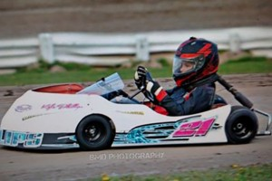 Two time 2016 Kart Feature Winner Kyle Phillips - Tim Phillips Photo