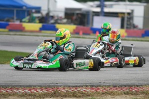 Sam Mayer came away with the IAME Junior victory, holding off Tavella (Photo: EKN)