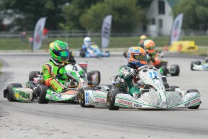 Lance Fenderson and Alex Bertagnoli are among the top contenders in IAME Junior (Photo: EKN)