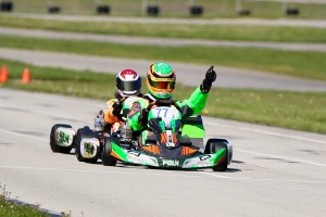 Stephen Dial is moving from Yamaha to IAME this year, already with two wins at Route 66 (Photo: Route66kartracing.com)