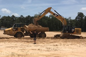 Alan Rudolph is all smiles as construction begins on Speedsportz Racing Park  (Photo: SpeedsportZ Racing Park)
