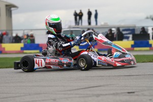 Braden earned the USPKS opening round victory in IAME Pro (Photo: EKN)