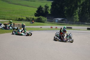 Northrop slipped past the Merlin karts for his first USPKS victory (Photo: Kathy Churchill - USPKS)