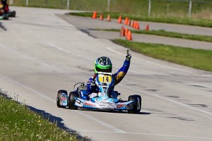 Kaden Wharff took home three wins on the weekend, including two in IAME Cadet (Photo: Kathy Churchill - Route66SprintSeries.com)