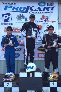 Cade McKee took the top step of the podium for the first time in Rotax Junior (Photo: TPKC)