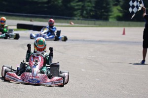 Zach Holden recorded the IAME Pro victory (Photo: Kathy Churchill - USPKS)