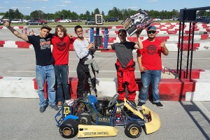 A team from Decatur Central High School in Indianapolis took the top spot at the 2016 evGrandPrix at the Indianapolis Motor Speedway. (Purdue University photo/Jim Schenke)