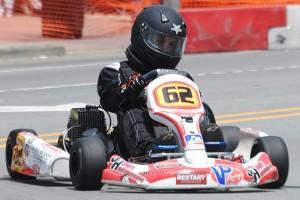 Jordan Fresher and his Edwards-Rigdon Construction / Jim Howe Motorsports LLC #62 Birel (Photo: Ashley Powell)