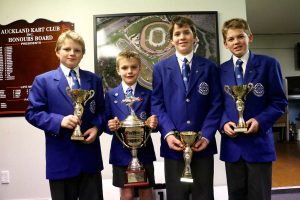 St Kentigern College drivers (l to r) Charlie Coleman, Sebastian Manson, Sam Wright and Mitchell Frazer (Photo: Fast Company/Emilee Wright)