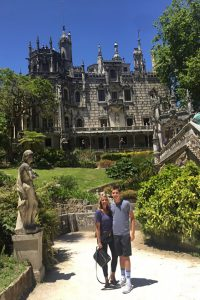 My mom and I at a castle in Sintra, Portugal