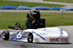 Alex Vrabel races his new IONIC Edge at Michiana Raceway Park (Photo: Bruce Walls / Action Enterprises)