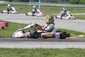 Another great drive by Dylan Tavella gave him win number two on the weekend in X30 Junior (Photo: EKN)