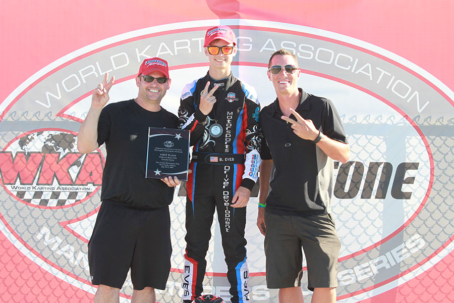 Braden Eves doubled up Saturday, winning IAME Pro and Yamaha Senior (Photo: EKN)
