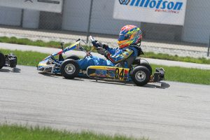 Home track advantage went Garrett Adams way, winning his first ever WKA Yamaha Sportsman victory (Photo: EKN)