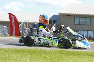 Nicholas d'Orlando picked up his first WKA win in Pro IAME Junior (Photo: EKN)