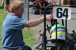 JeremyHarsham and a crewmember on Senior Champ's grid