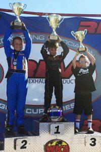 Gafrarar celebrates his second WKA Gold Cup Series Briggs 206 Sportsman victory