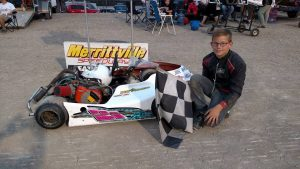 Kyle Phillips won his fourth main of the year in Restricted Junior