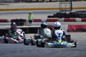 Brenden Delorto became a first time winner in PRD 2 Junior (Photo: Kart Racer TV)