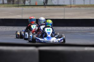 Carson Morgan doubled up in the win column, winning Junior 1 Comer and Mini Swift (Photo: Kart Racer TV)