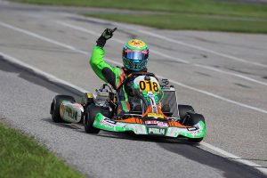 Austin Schaff was perfect on the weekend in the IAME Junior division (Photo: Kathy Churchill - Route66SprintSeries.com)