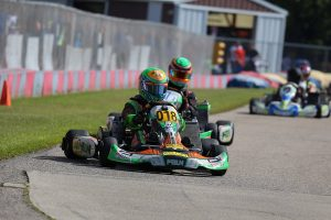 Austin Schaff dominated the IAME Junior division in Dousman (Photo: Kathy Churchill - Route66SprintSeries.com)