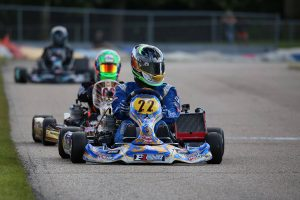 Josh Hotz and TJ Koyen each led the IAME Senior field on the weekend (Photo: Kathy Churchill - Route66SprintSeries.com)