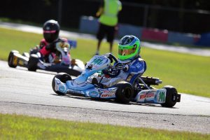 Kaden Wharff scored four wins on the weekend, two in Yamaha Cadet and two in IAME Cadet (Photo: Kathy Churchill - Route66SprintSeries.com)