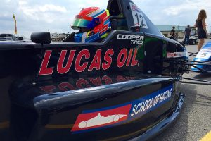 JP Southern is taking part in both the WKA and Lucas Oil School of Racing race weekend here at Pitt (Photo: EKN)