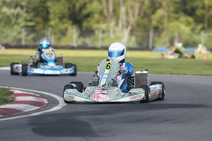 Myles Rowe became a first time winner in the IAME Junior division (Photo: EKN)